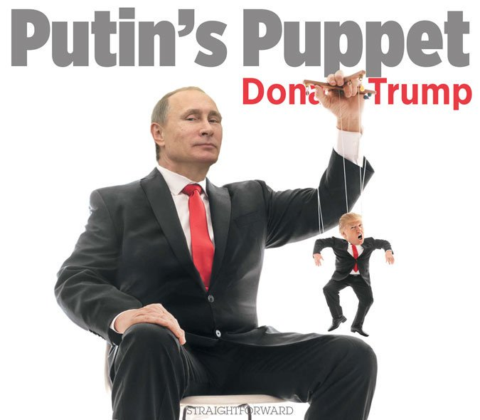 Image result for trump puppet putin